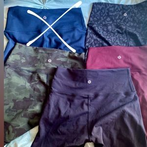 Lululemon Wunder Under Train shorts Bundle